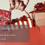 24 uurs feestdagen actie! Ontvang 10% korting op je totale online aankoop!